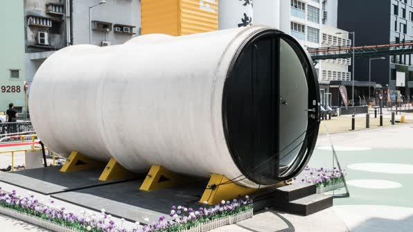 3평 짜리 튜브 홈…홍콩주택난 해소할까?