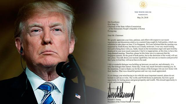 트럼프, 김정은 공개서한 vs 北 김계관 담화 전문