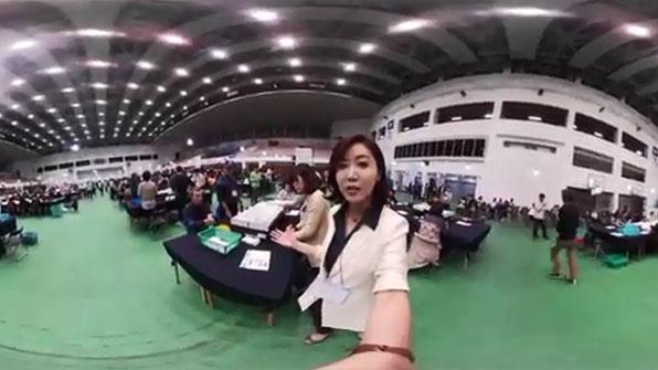 [영상] 360도 카메라로 본 개표소