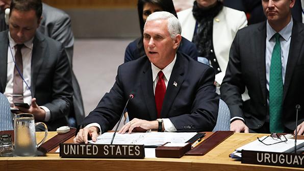 """美부통령 """"北, 핵·미사일 포기선언해야 평화해결 시작"""""""