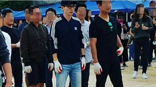 [K스타] 가을 운동회에 참석한 '지호 아빠' 유재석