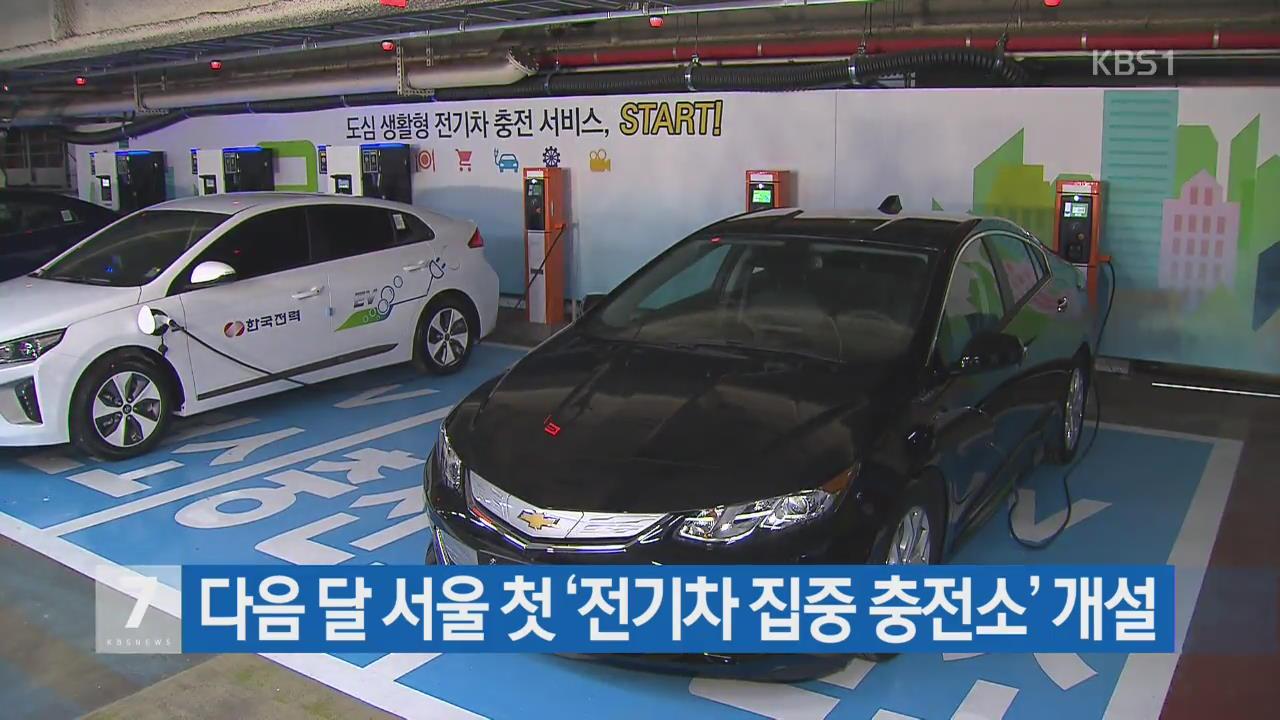 다음 달 서울 첫 '전기차 집중 충전소' 개설