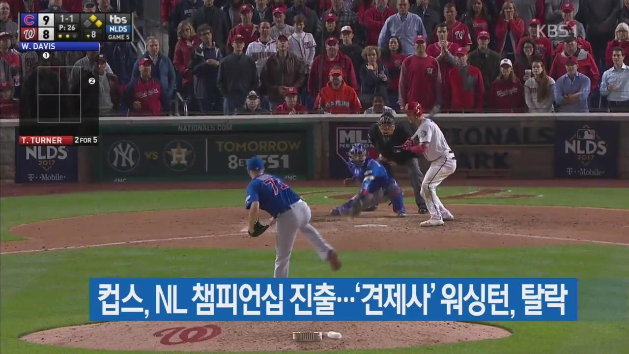 컵스, NL 챔피언십 진출…'견제사' 워싱턴, 탈락