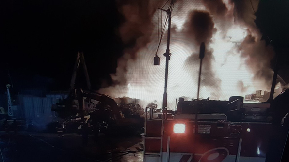 김해 금속 재활용 공장 화재