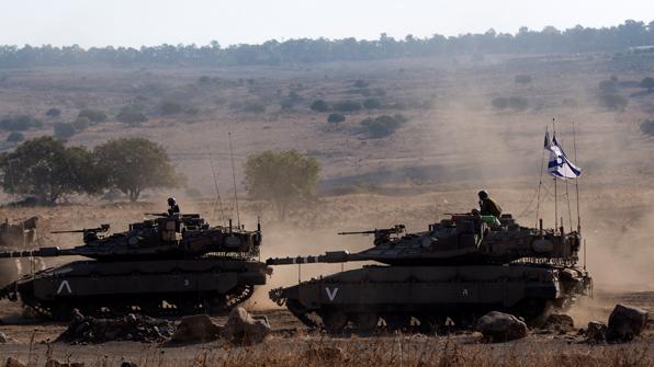 이스라엘 탱크, 골란고원 시리아군 향해 발포