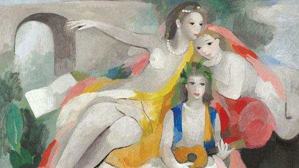 미라보 다리의 연인, 마리 로랑생의 그림들