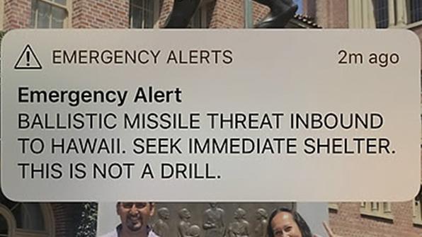 """하와이 하원의원 """"이런 종류의 실수가 전쟁 유발할 수 있다"""""""