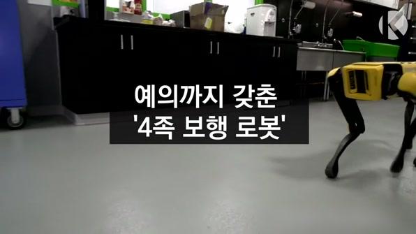 [라인뉴스] 예의까지 갖춘 '4족 보행 로봇'