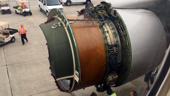 하와이행 미 항공기 엔진덮개 부서져 비상 착륙