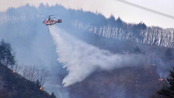 경북 안동 산불…임야 2천 제곱미터 소실