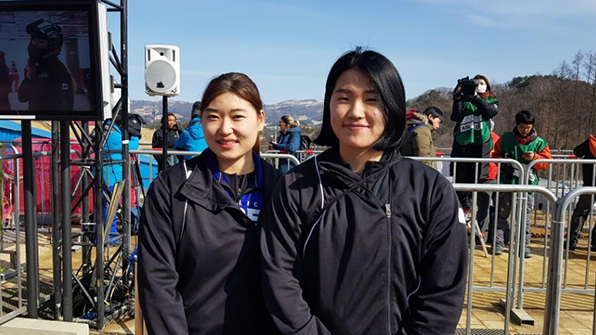 여자 봅슬레이 김유란-김민성, 연습주행 하위권