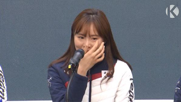"""[영상] 김아랑 """"세월호 유족이 고맙다 하더라""""…'눈물'"""
