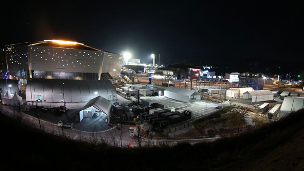 [포토] 겨울밤 장식했던 평창 올림픽경기장 야경 한 눈에