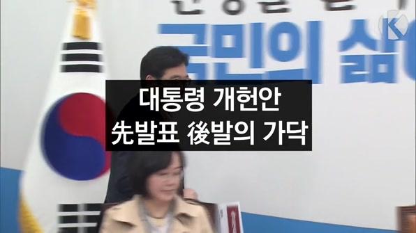[라인뉴스] '대통령 개헌안' 발의 늦춘다…先 발표 後 발의로 가닥
