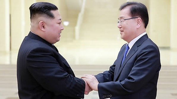 김정은, 특사단 접견후 2주째 언론보도 활동 없어