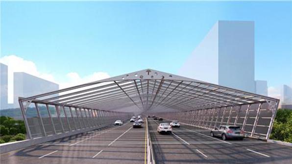 동부간선도로에 세계 최초 '태양광 방음터널' 설치