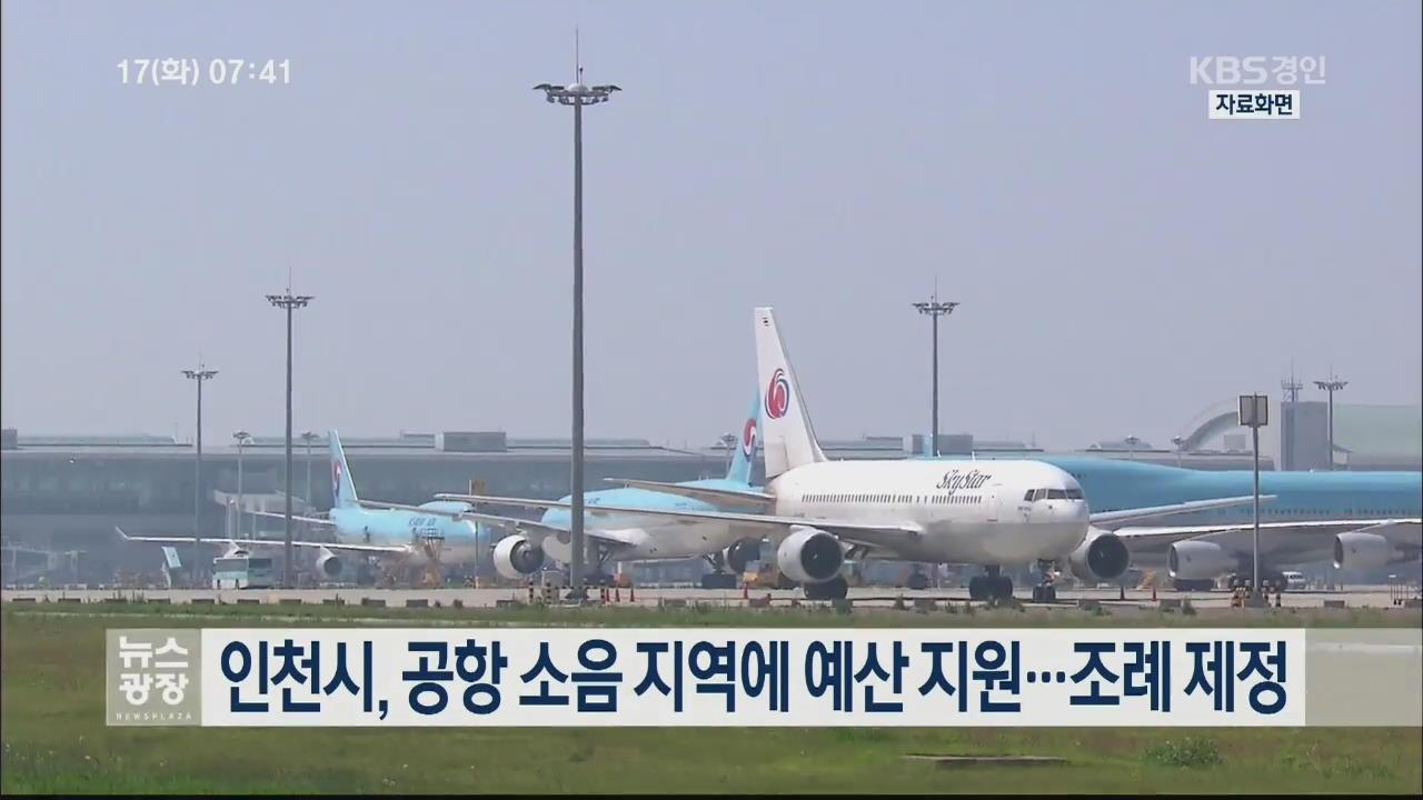 인천시, 공항 소음 지역에 예산 지원…조례 제정