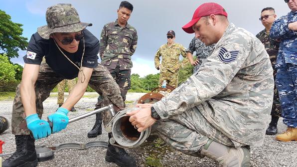 공군, 美 앤더슨 공군기지서 다국적 연합 공병훈련 참가