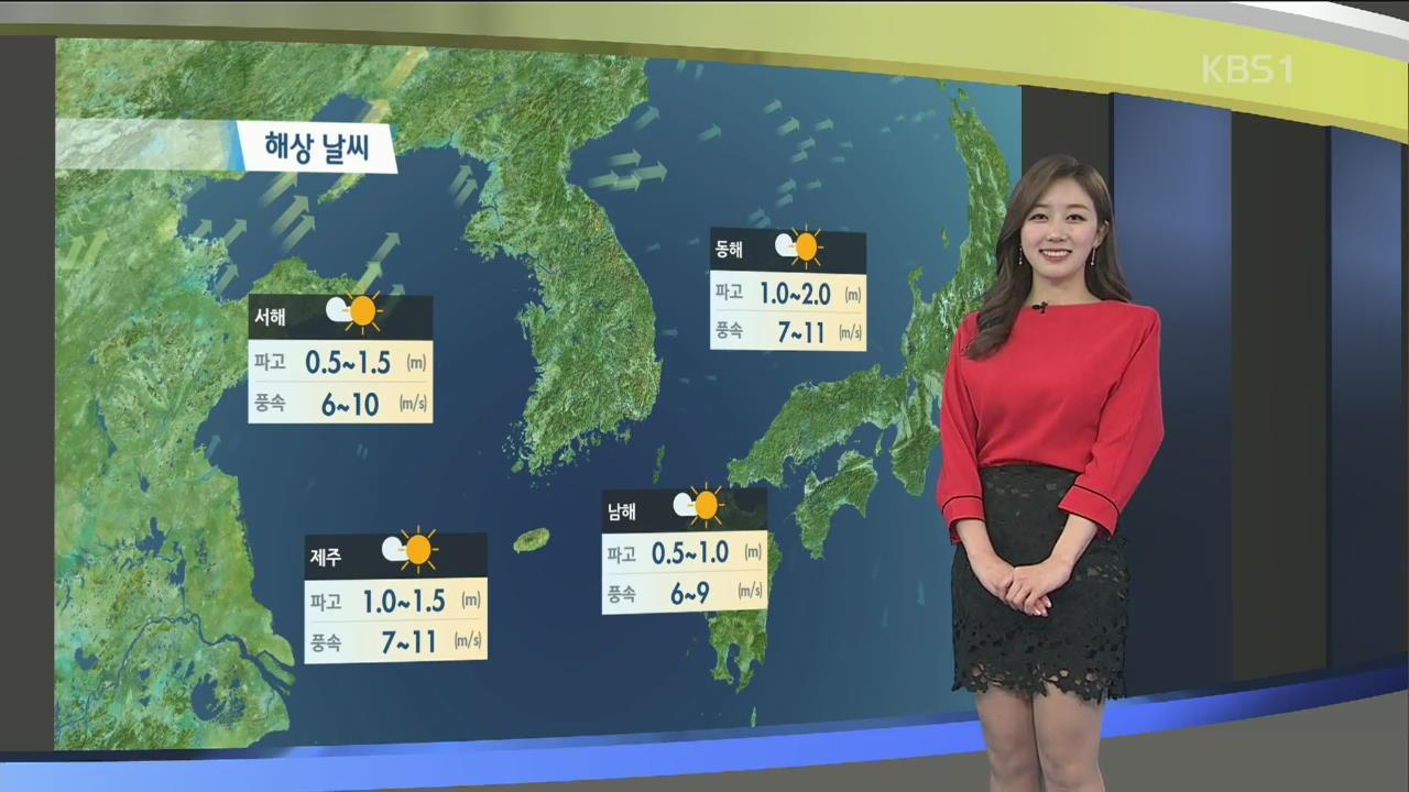 [날씨] 내일 충청, 영남 미세먼지 '나쁨'…아침 쌀쌀, 낮동안 포근