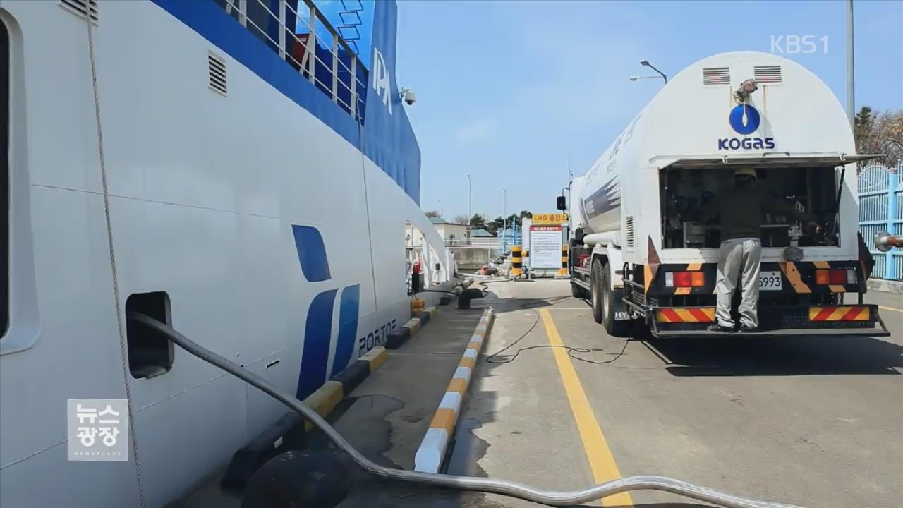 "LNG 추진 선박 지원…""미세먼지 90% 낮춰"""
