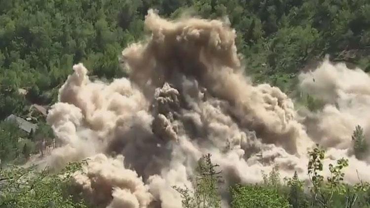 [영상] 풍계리 핵실험장 폭파 현장 하이라이트