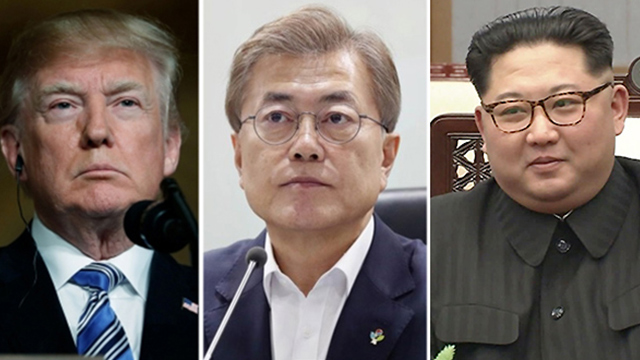 """靑 """"남북미 종전선언 여부, 북미 정상회담 성과에 연동"""""""