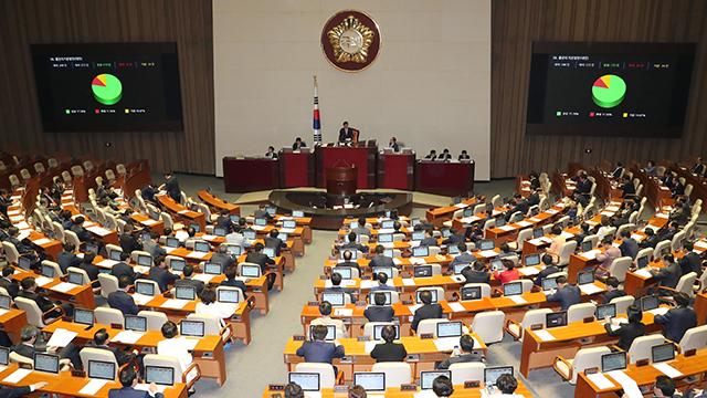 국회, 최저임금 산입범위 확대법·물관리 일원화법 등 통과