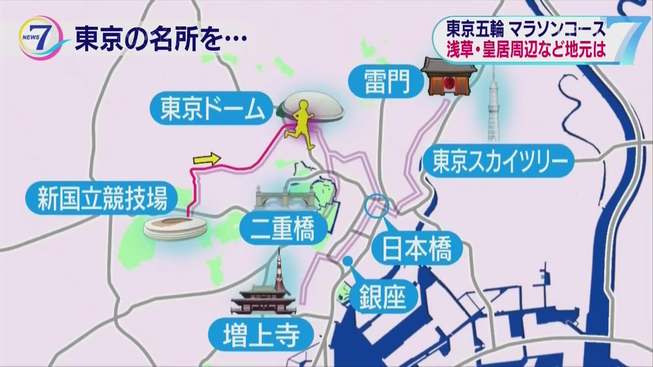 日 도쿄올림픽 마라톤, 관광명소 들르는 코스