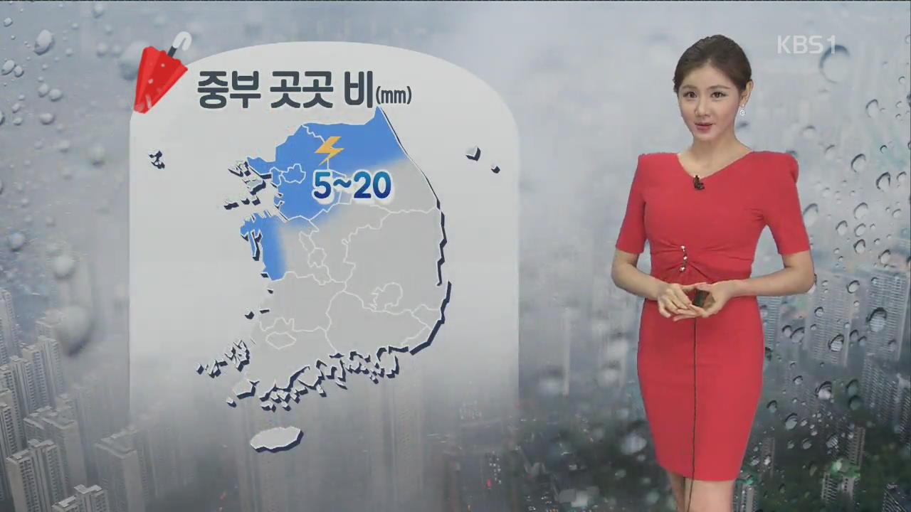 [날씨] 중부 곳곳 비…서쪽 더위·동쪽 선선
