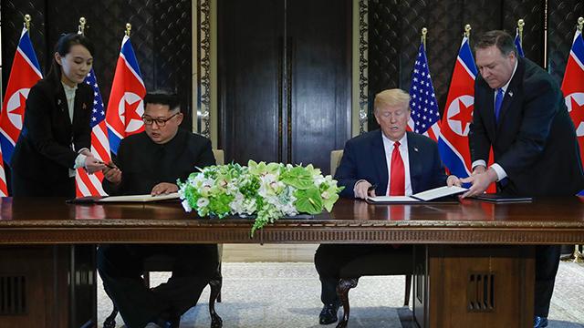 북한 조선중앙TV, 북미 정상회담 소식 첫 영상 보도