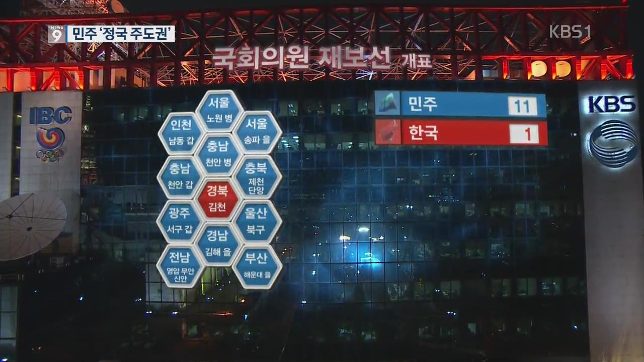 민주 재보궐 11곳 승리…'정국 주도권'
