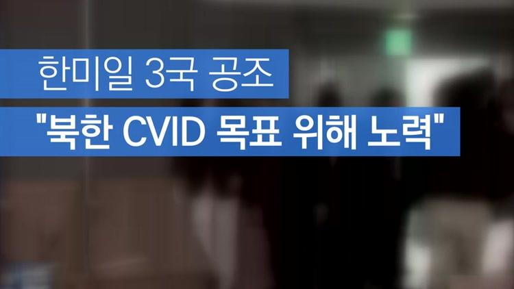 """[자막뉴스] 한미일 3국 공조 """"北 CVID 위해 노력"""""""