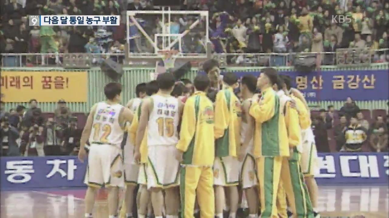 다음 달 평양서 통일농구…남북 체육교류 본격화