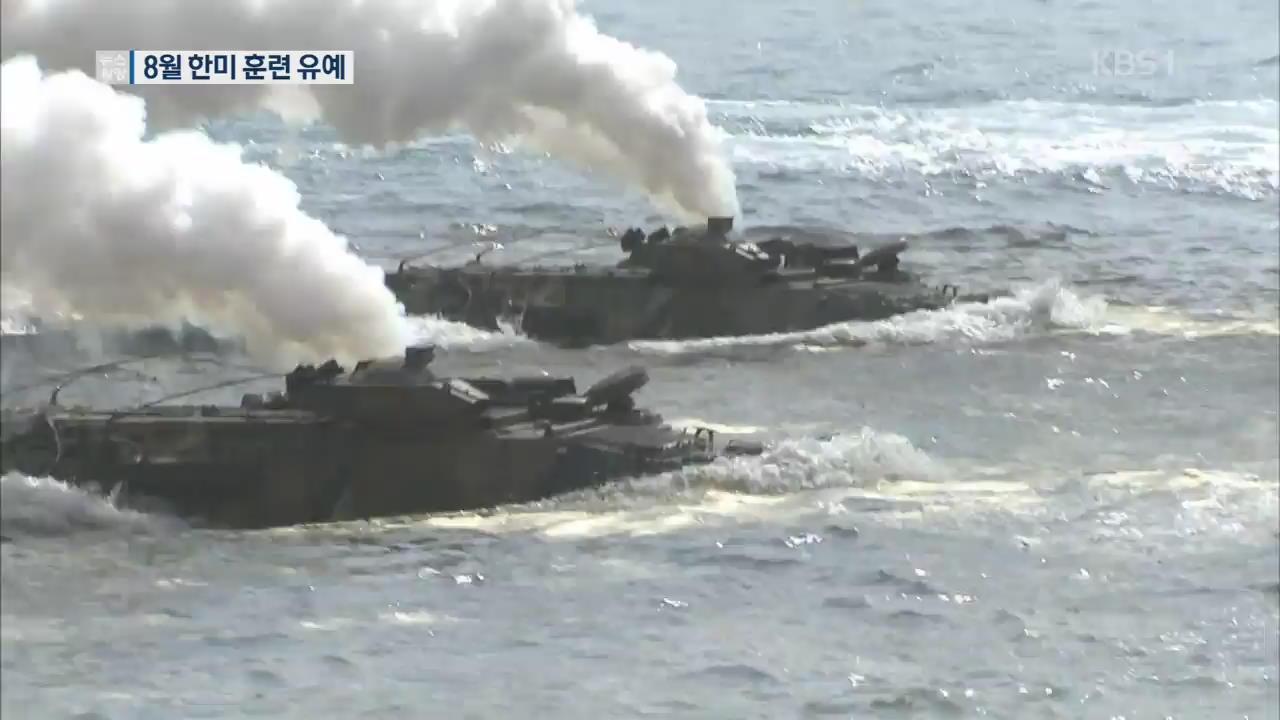 """한미 국방부 """"8월 UFG 한미연합훈련 중단 결정"""""""