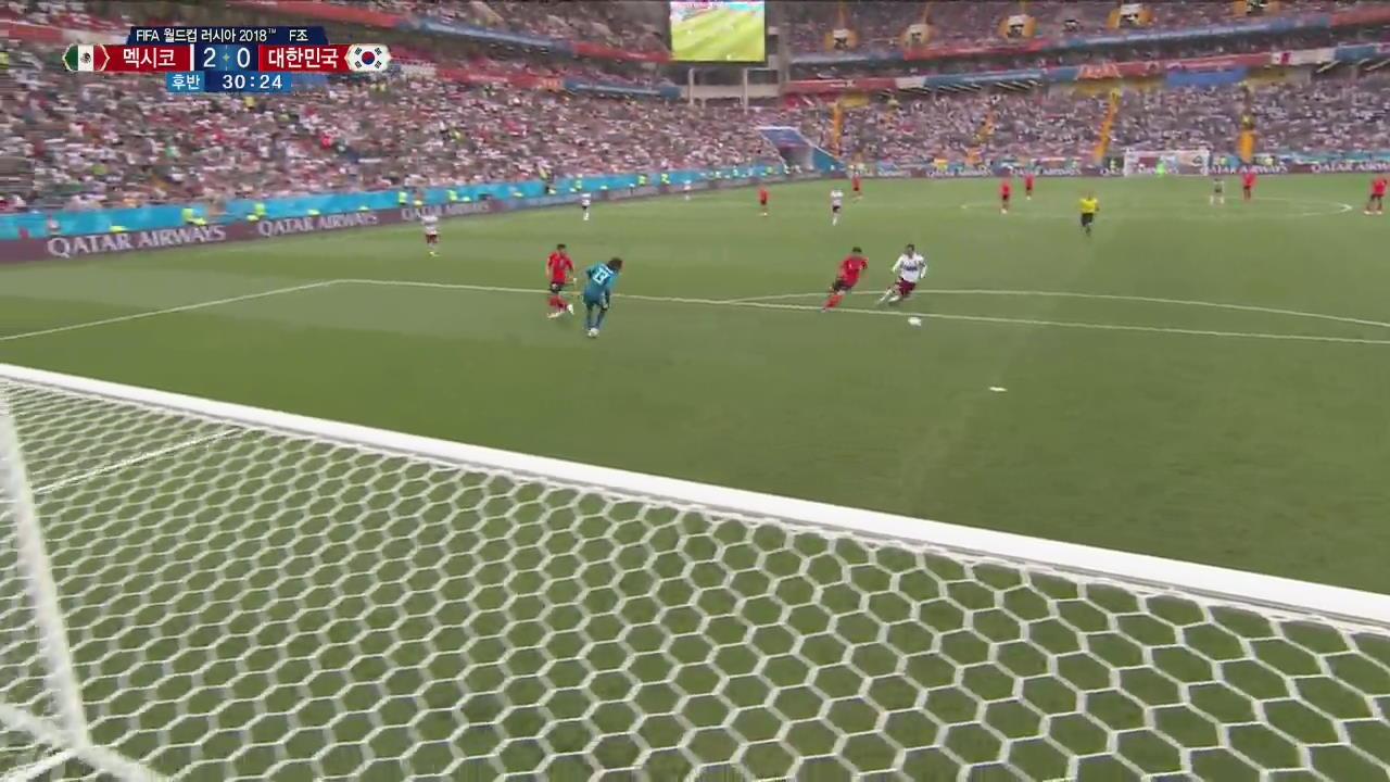[월드컵 영상] 황희찬, 백패스로 천금의 기회 양보