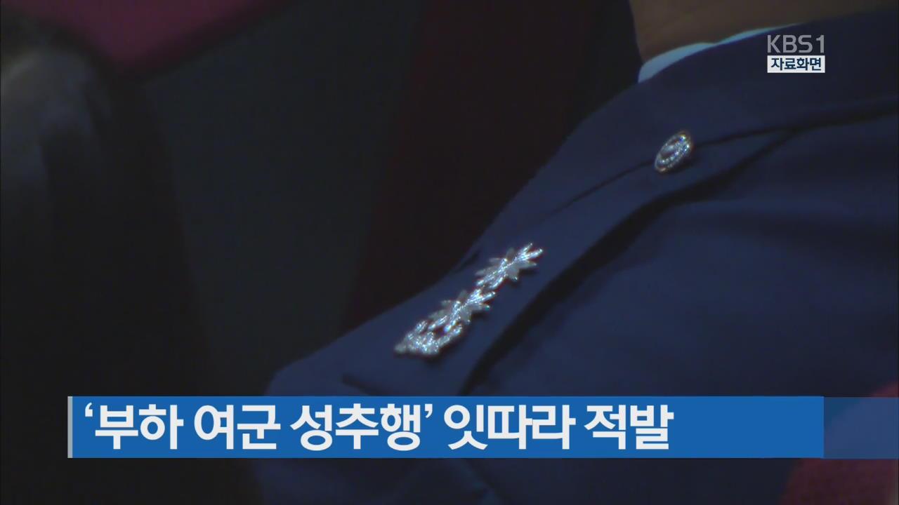 [간추린 단신] '부하 여군 성추행' 잇따라 적발 외