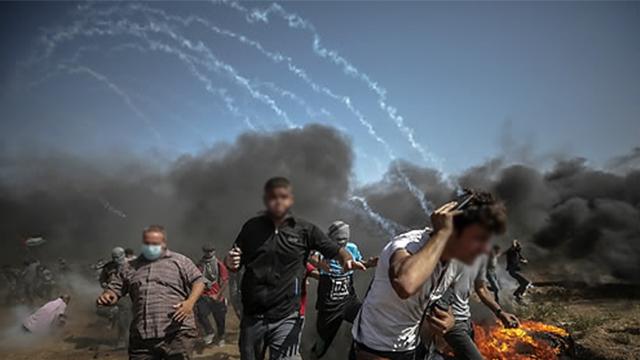 팔레스타인 15세 소년, 시위하다 이스라엘군에 피살