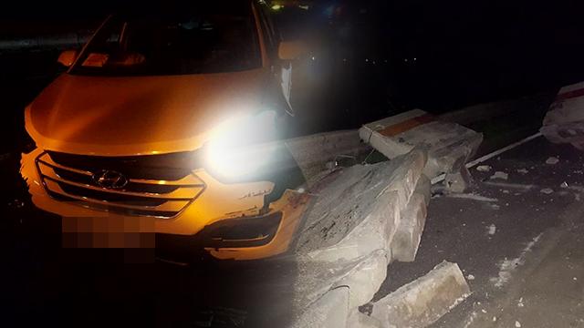 서해안고속도로서 승용차 갓길 방호벽 들이받아…30대 만취 운전자 입건