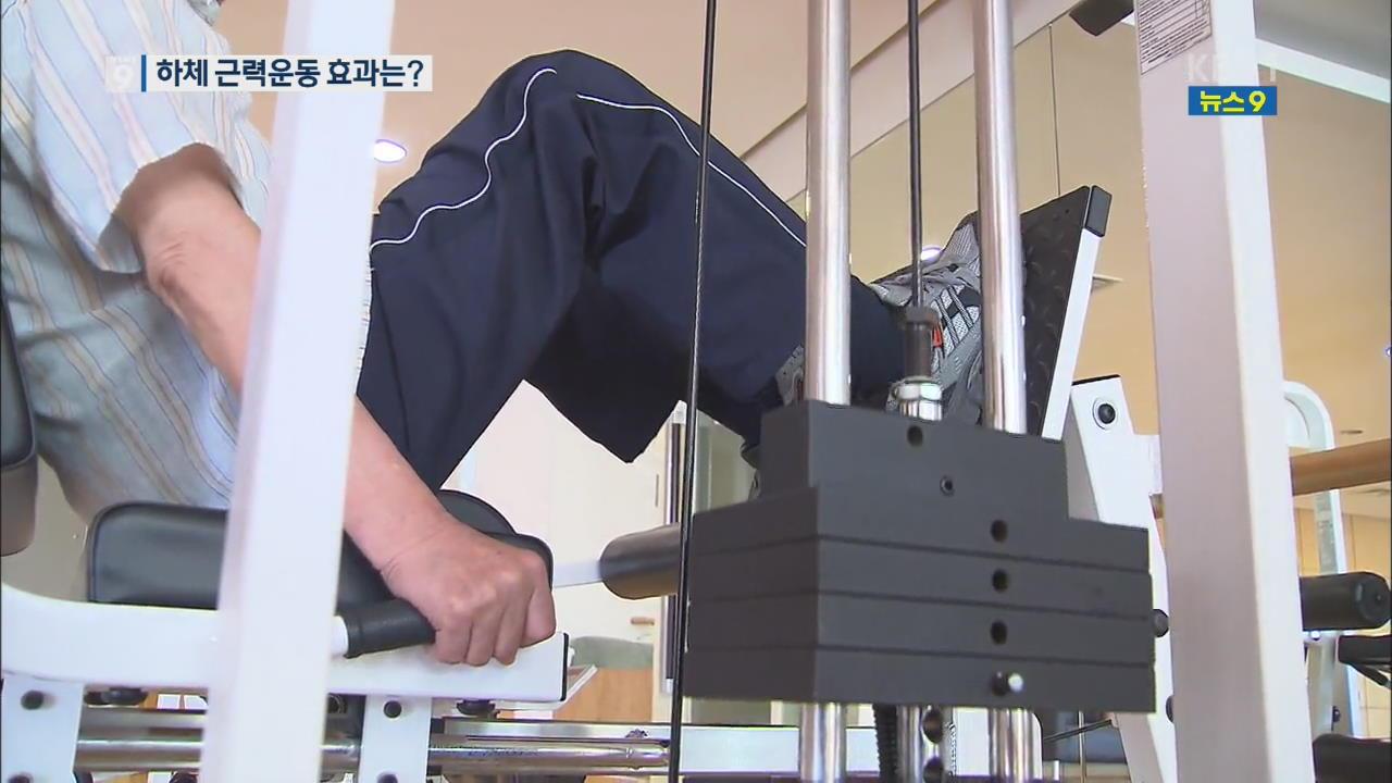 노인 하체 근력 운동, 폐기능 개선!