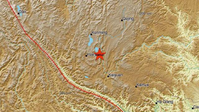 중국 남서부 윈난성서 규모 5.0 지진…8명 부상