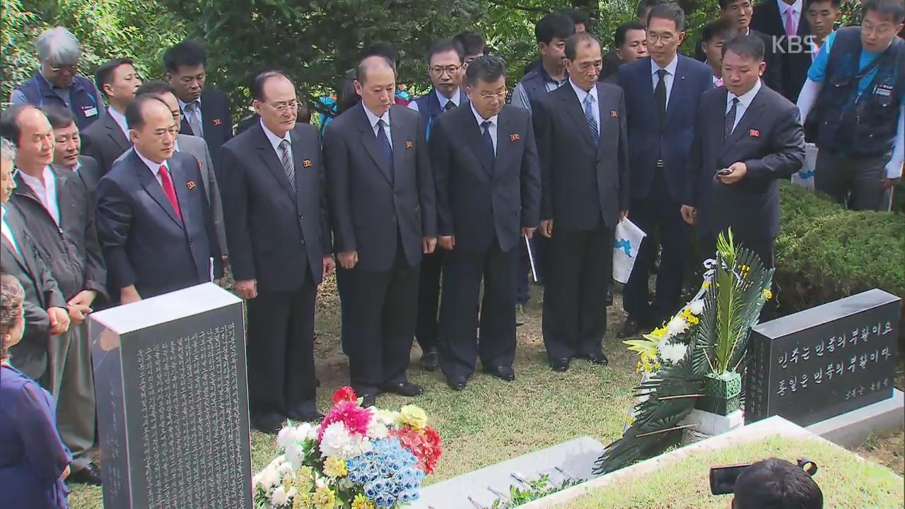 北 노동자 일정 마무리…전태일·이소선 묘소 참배