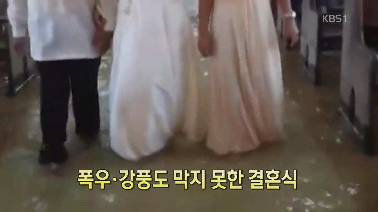 [디지털 광장] 폭우·강풍도 막지 못한 결혼식
