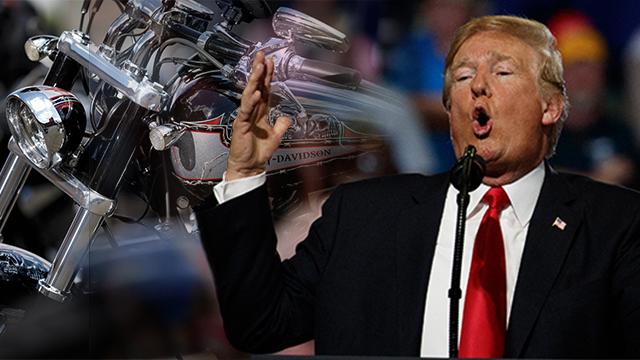 """트럼프, '할리 데이비슨 보이콧' 지지…""""훌륭하다"""" 칭찬"""