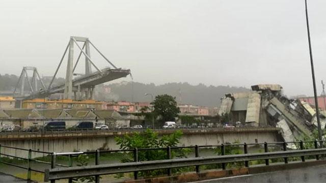 [영상] 이탈리아 고속도로 다리 붕괴…참혹한 현장
