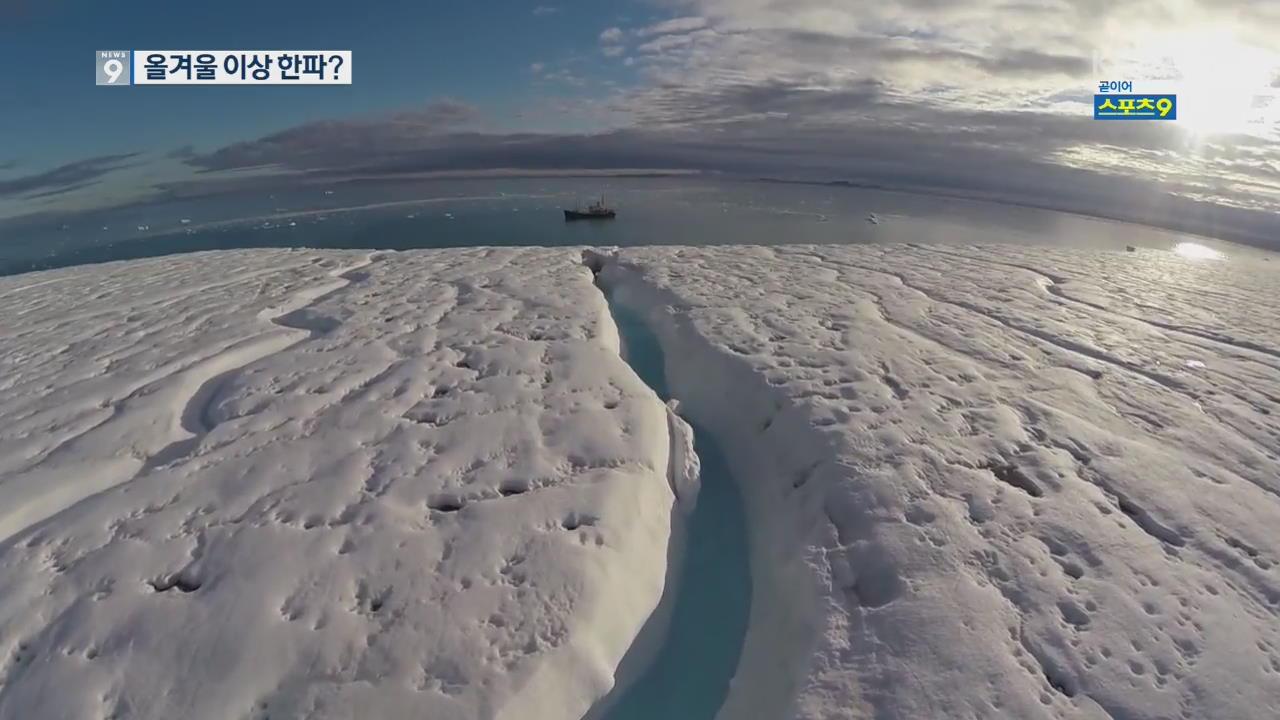 """얼음 녹는 북극 바다…""""한반도에 이상 한파 올 수도"""""""