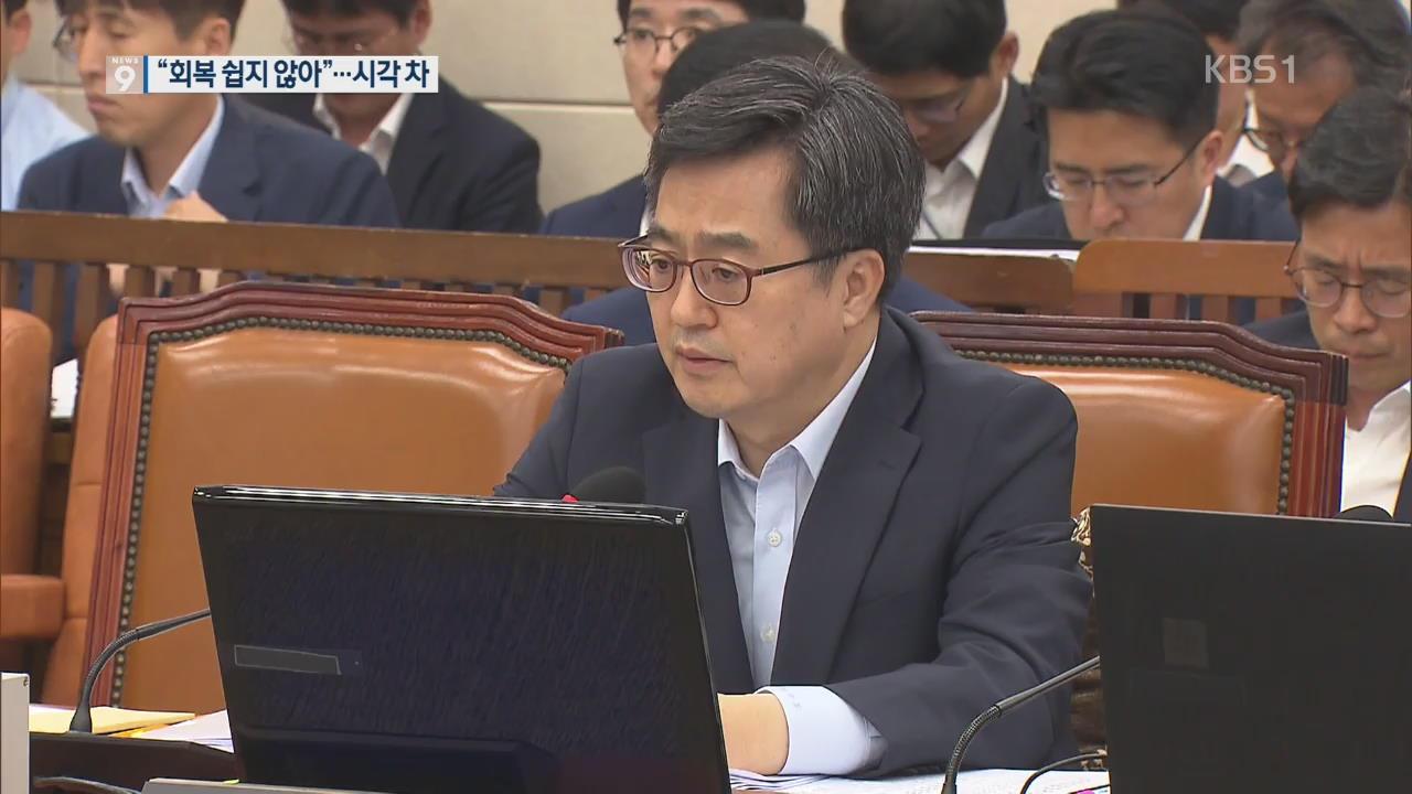 """김동연 """"고용, 빠른 회복 쉽지 않아""""…장하성과 시각차"""