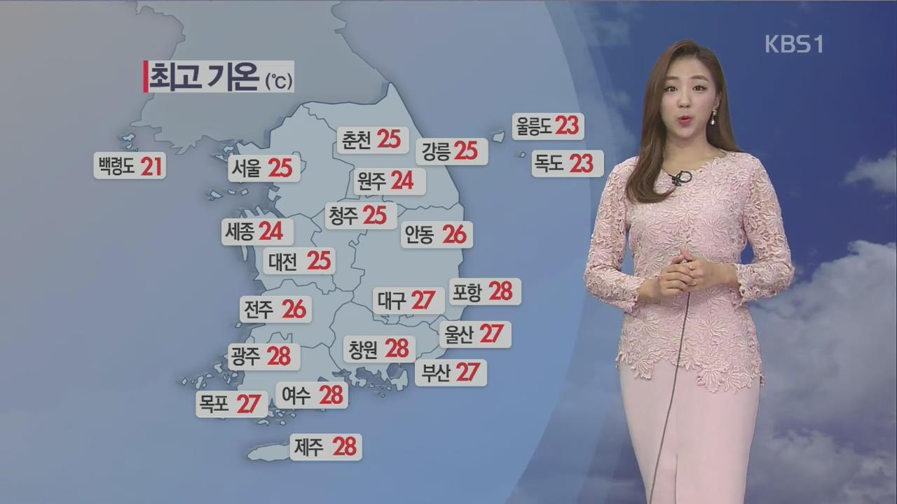 [날씨] 전국 흐리고 산발적 비, 아침 짙은 안개 주의