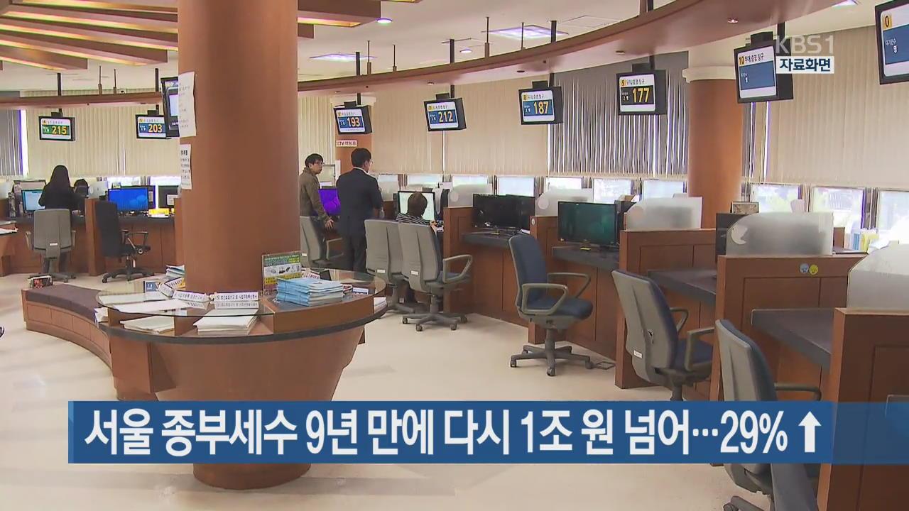 서울 종부세수 9년 만에 다시 1조 원 넘어…29%↑