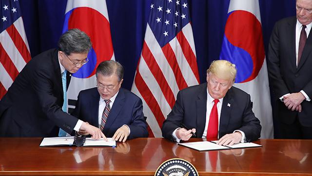 """트럼프 """"한미FTA, 통상분야 역사적 이정표"""""""