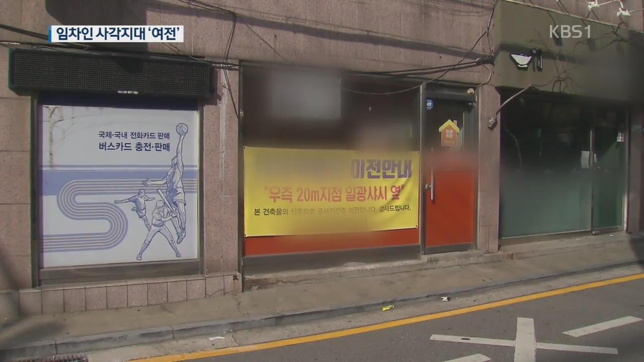 '상가임대차보호법' 시행…10년 보호받지만 불안한 임차인